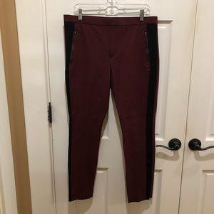 Banana Republic (12) burgundy skinny dress pants.